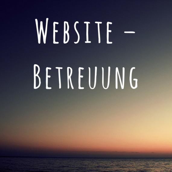 Website – Betreuung